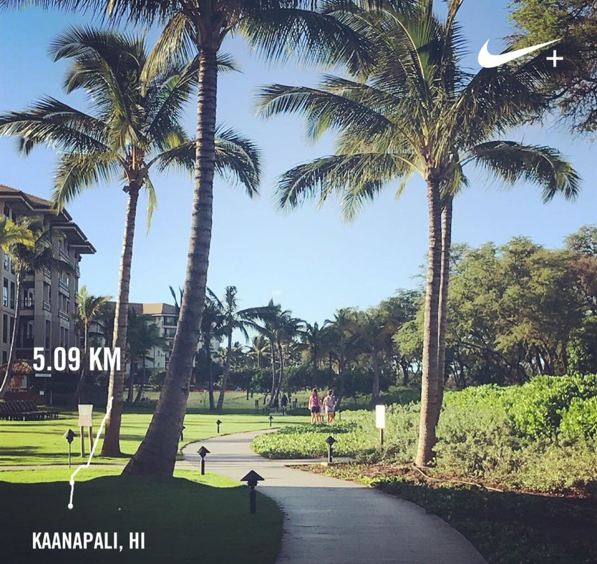 The boardwalk In Ka'anapali is a great place for a run#VacationLife via @Vistana