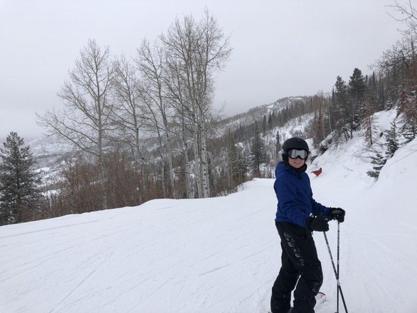 Learning to ski on champagne powder#VacationLife via @Vistana