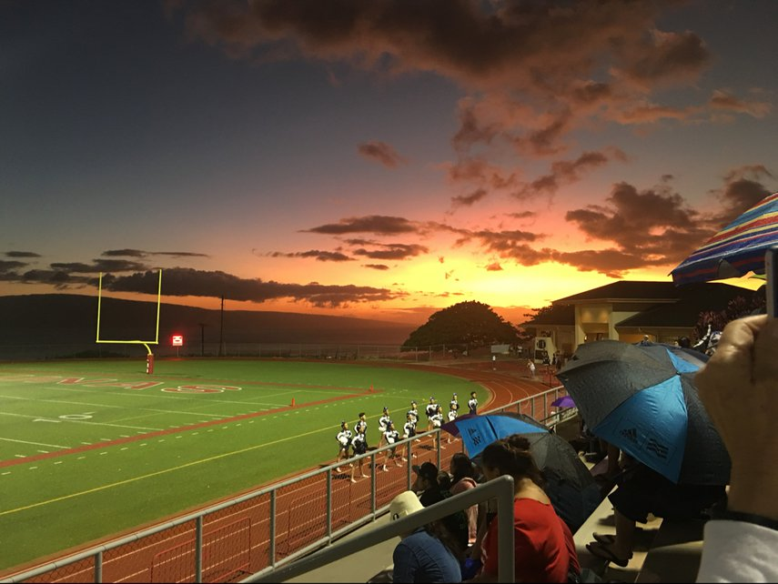 Sunset at LahainaLuna football game#VacationLife via @Vistana