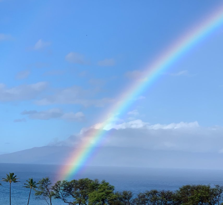 Perfect way to start the day being greeted by a massive colorful rainbow!#VacationLife via @Vistana