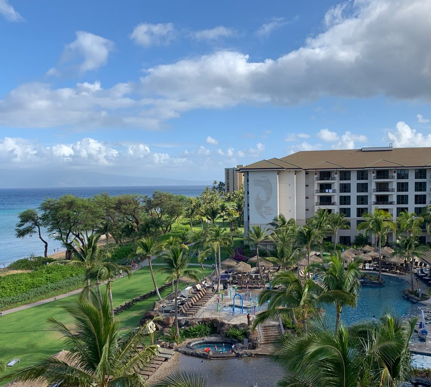 The view from our 3rd floor balcony at the Maui Westin Nanea in April 2019.#VacationLife via @Vistana