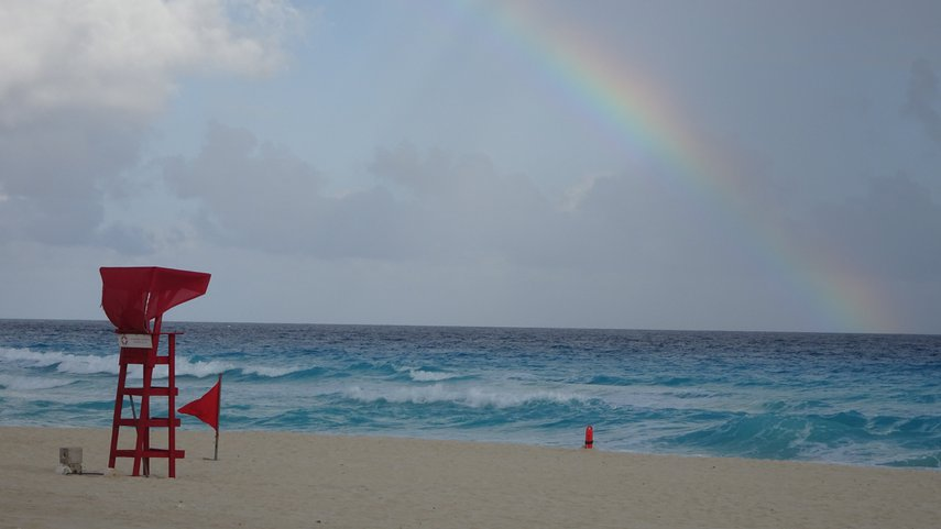 Cancun rainbow#VacationLife via @Vistana