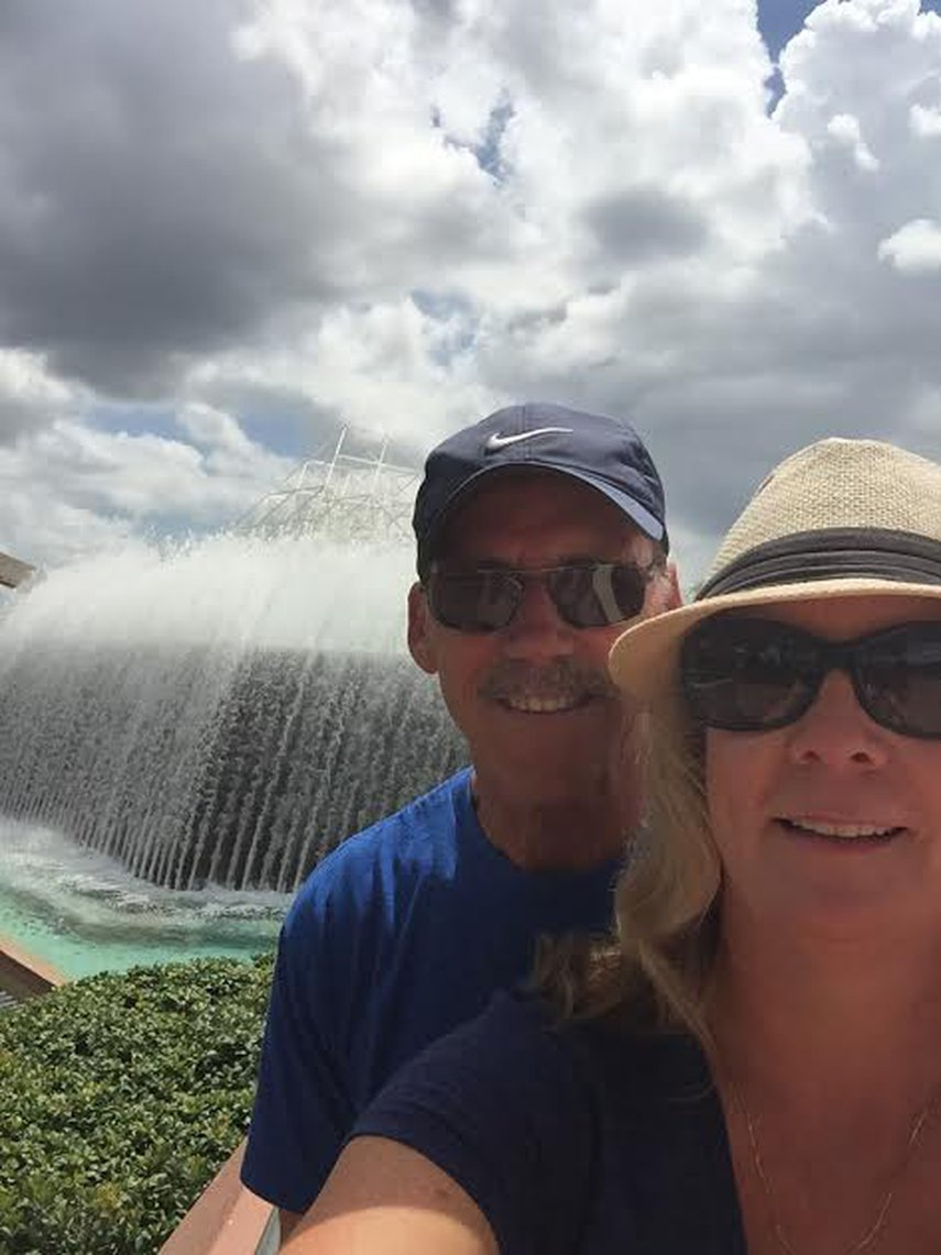 Waterfall at Epcot#VacationLife via @Vistana