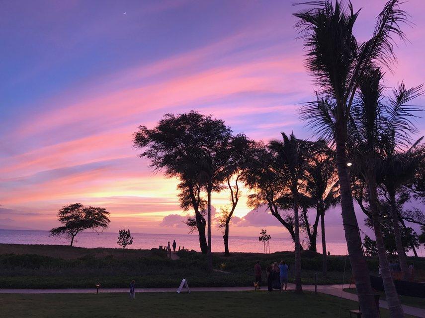 Sunset at Nanea#VacationLife via @Vistana