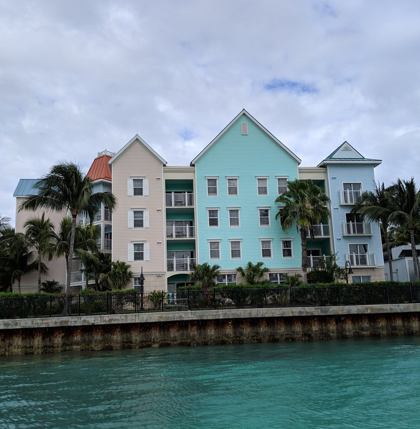 exterior next to water taxi stop Feb 2019#VacationLife via @Vistana