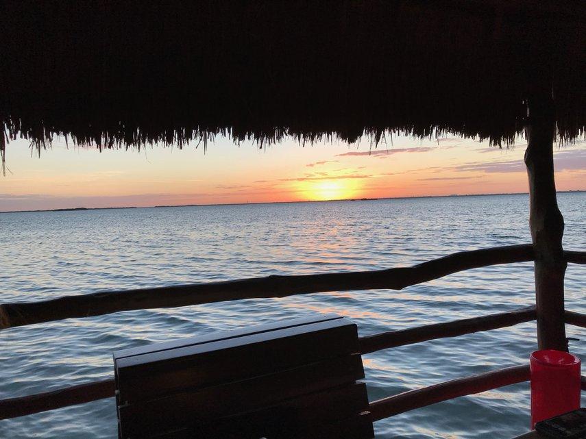 Sunset at dinner#VacationLife via @Vistana