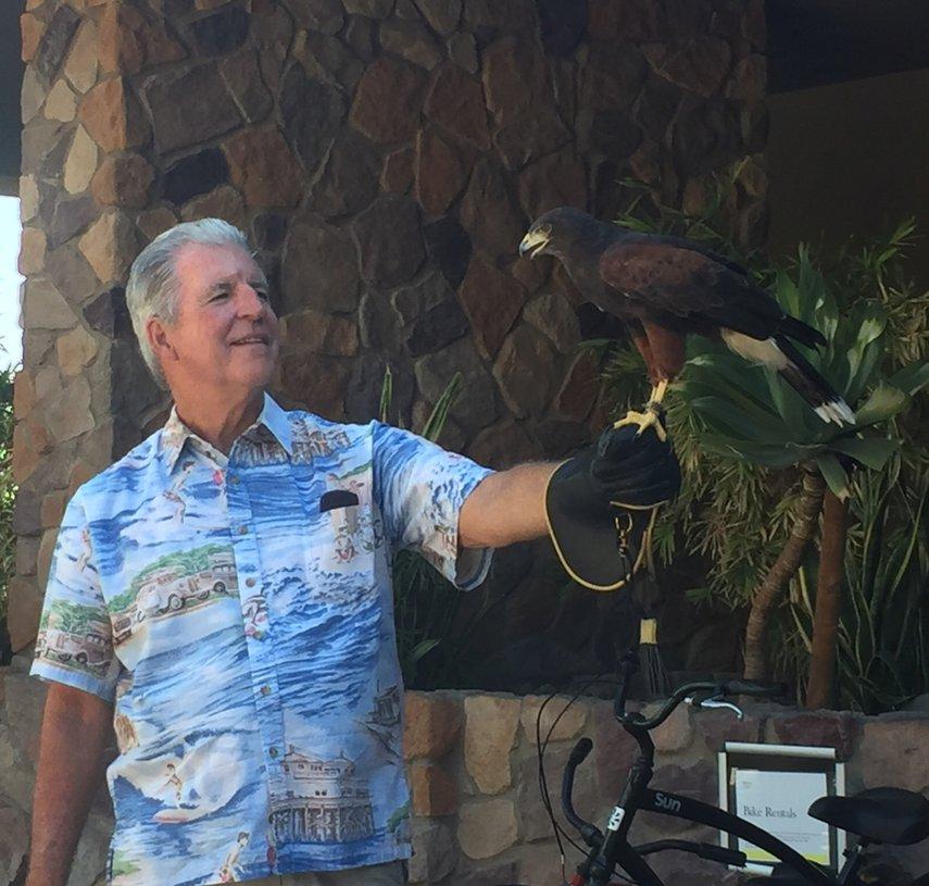 Enjoying Hawk Talk at Desert Willows#VacationLife via @Vistana