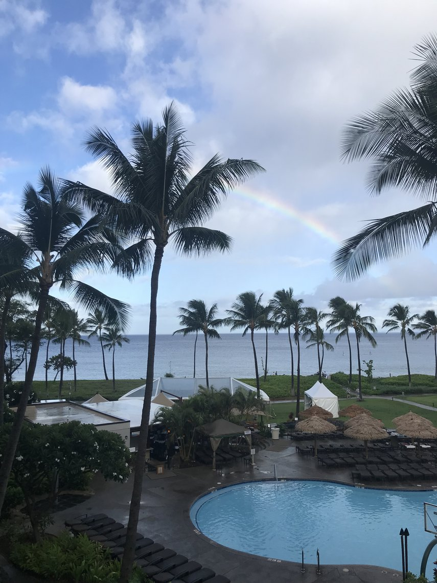 Rainbow at Kaanapali Beach#VacationLife via @Vistana