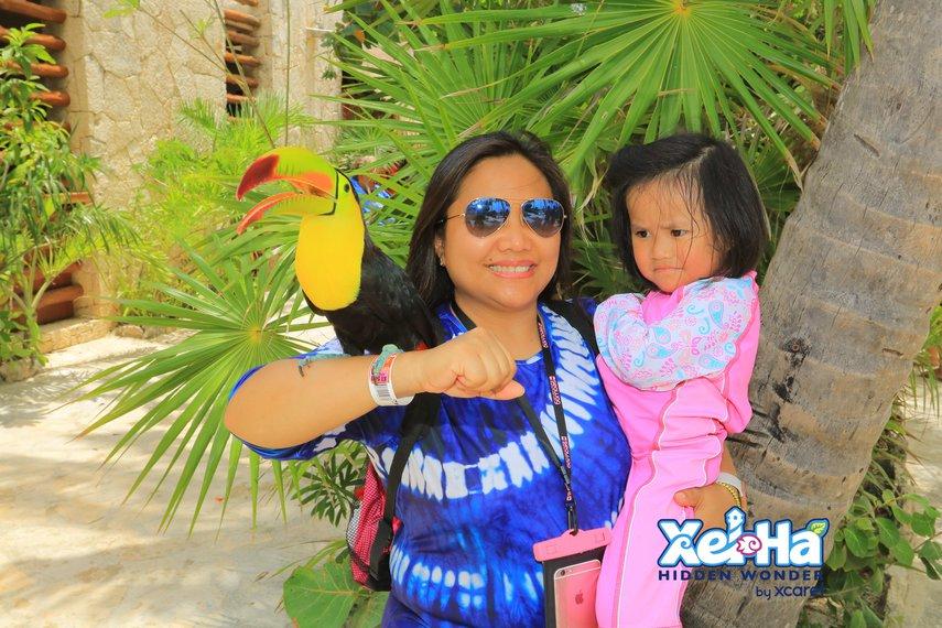 With Tucan in Xel HA#VacationLife via @Vistana