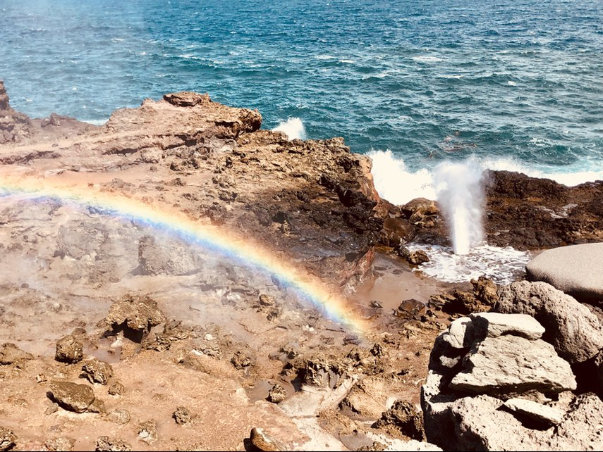 Caught this wonderful rainbow at the Nakalele Blowhole on our trip to Maui 2018#VacationLife via @Vistana