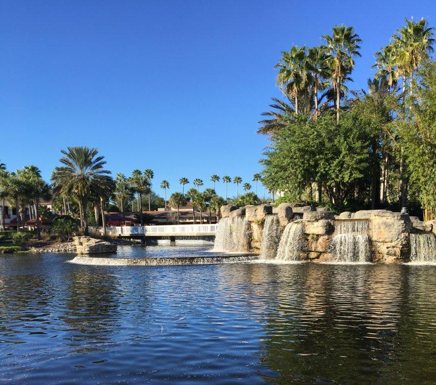 Pond and falls #VacationLife via @Vistana