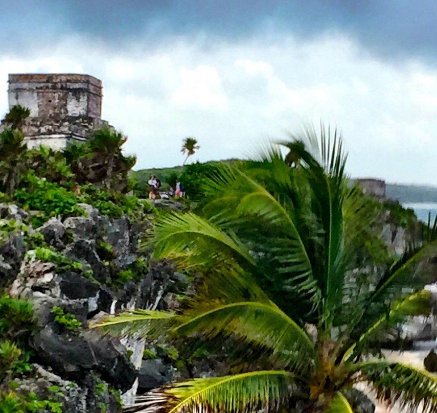 Trekking through Tulum on a stormy morning.  Jul 12 2018.#VacationLife via @Vistana