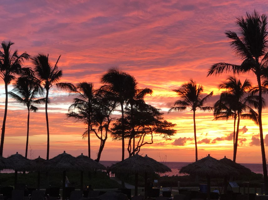 Captured a great sunset sky from the North Villas.#VacationLife via @Vistana