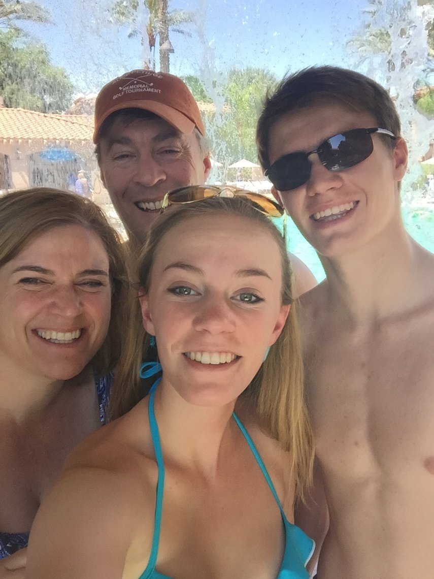 Enjoying the day with family under the water fall at the Sheraton Desert Oasis.#VacationLife via @Vistana